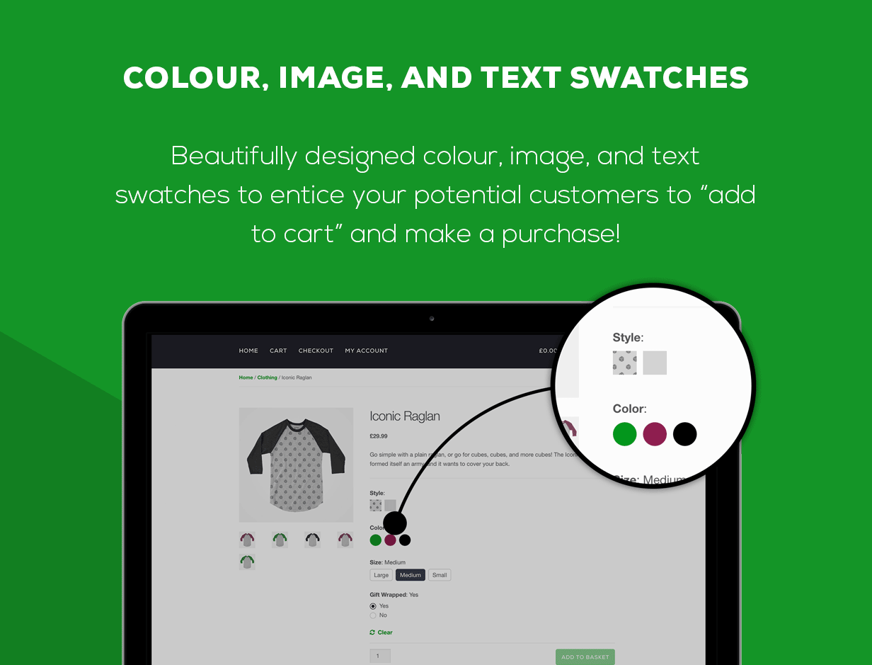 WooCommerce Attribute Colour Swatches, Image Swatches, and Text Swatches