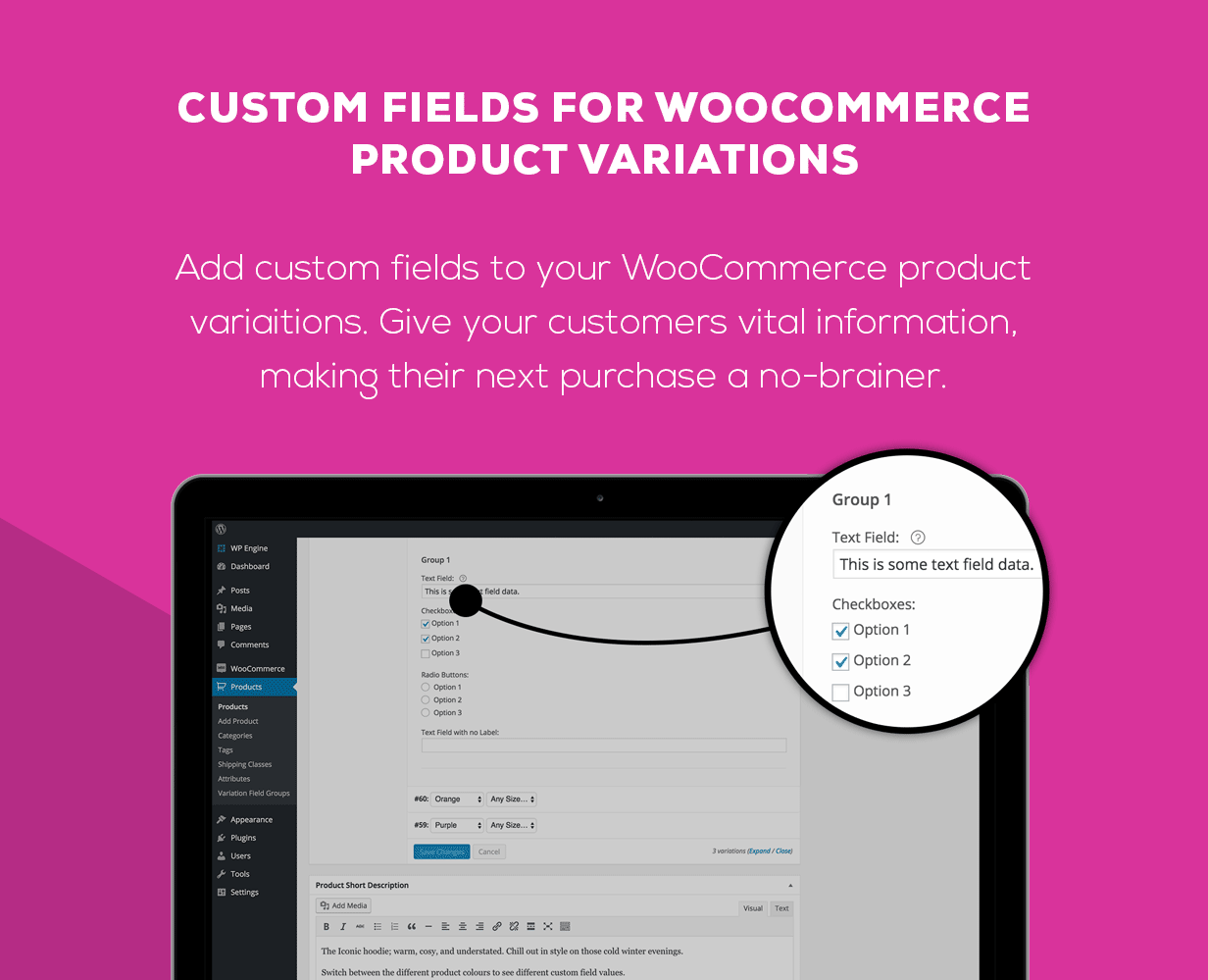 WooCommerce Custom Fields for Variations