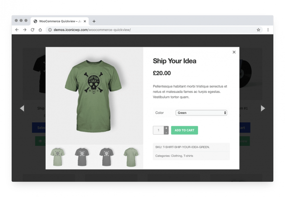 Quickly purchase WooCommerce products from the shop page
