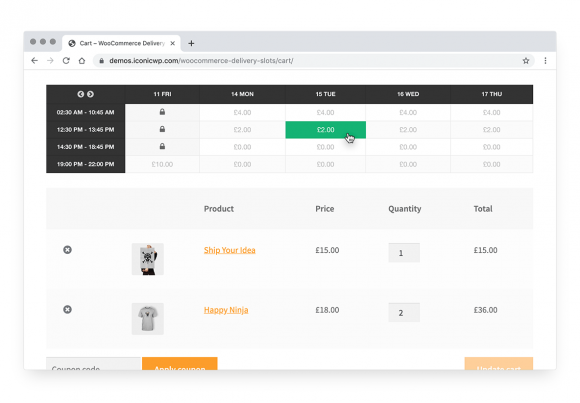 Reserve a delivery date in WooCommerce