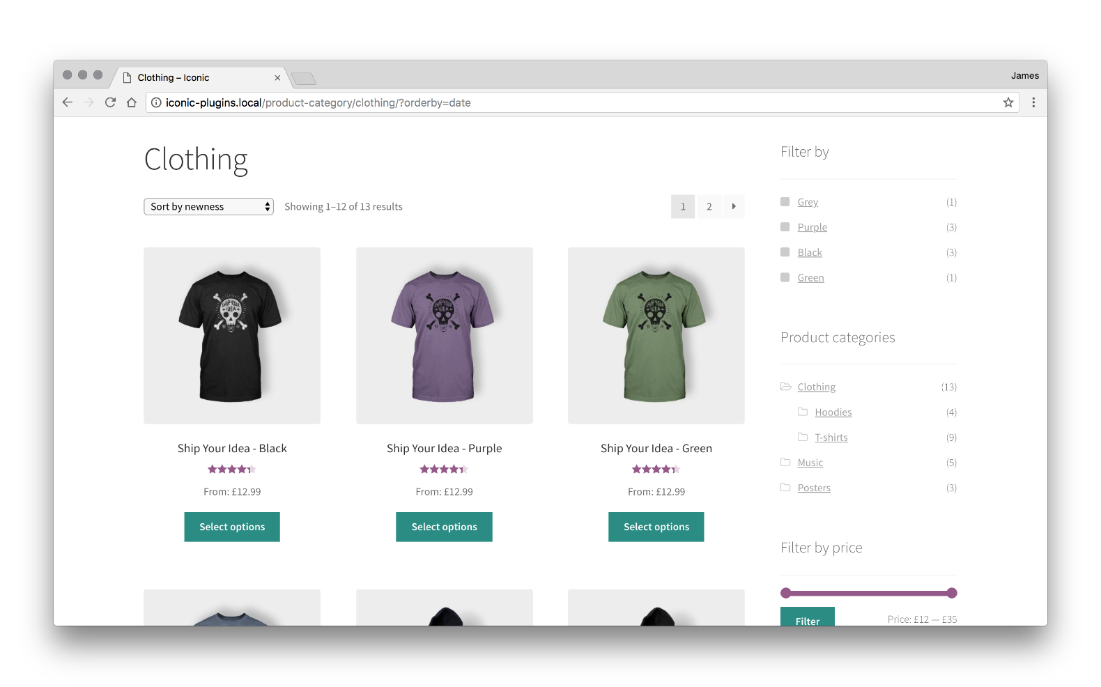 WooCommerce Show Single Variations - Iconic