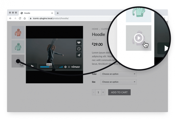 woocommerce featured video