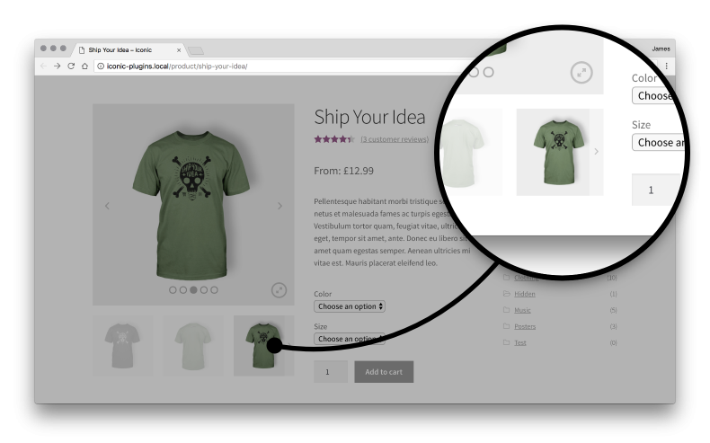 WooCommerce Sliding Thumbnails