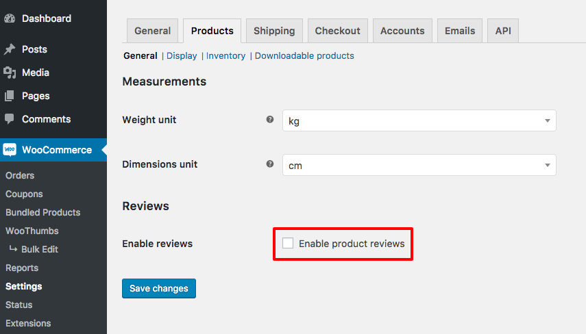 woocommerce disable reviews