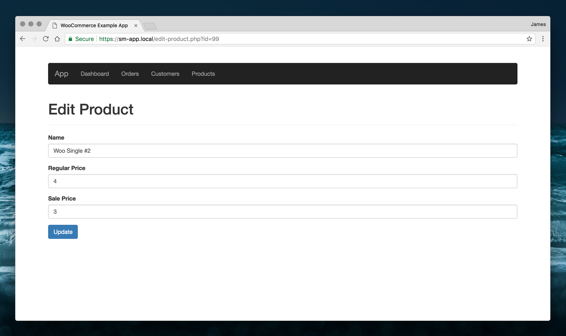 Edit product via the WooCommerce API