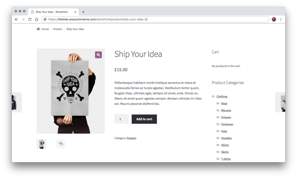 The Default WooCommerce Product Gallery Slider