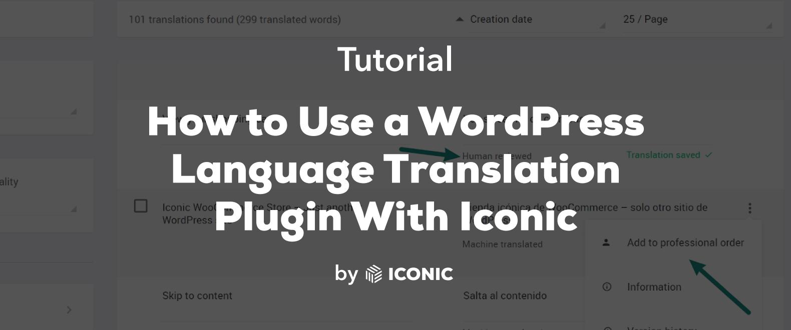 WordPress Language Translation Plugin With Iconic