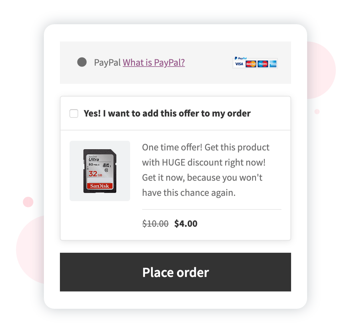 WooCommerce Order Bump at Checkout