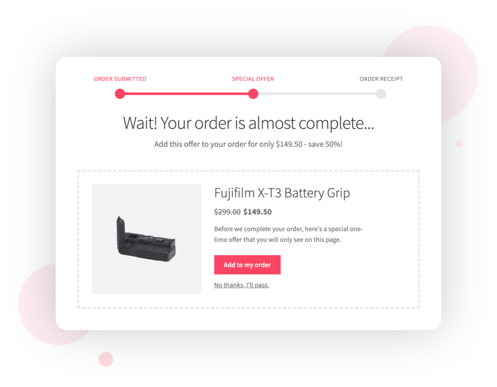 WooCommerce One-Click Cross Sell