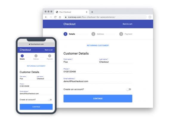 Mobile Optimised Checkout for WooCommerce
