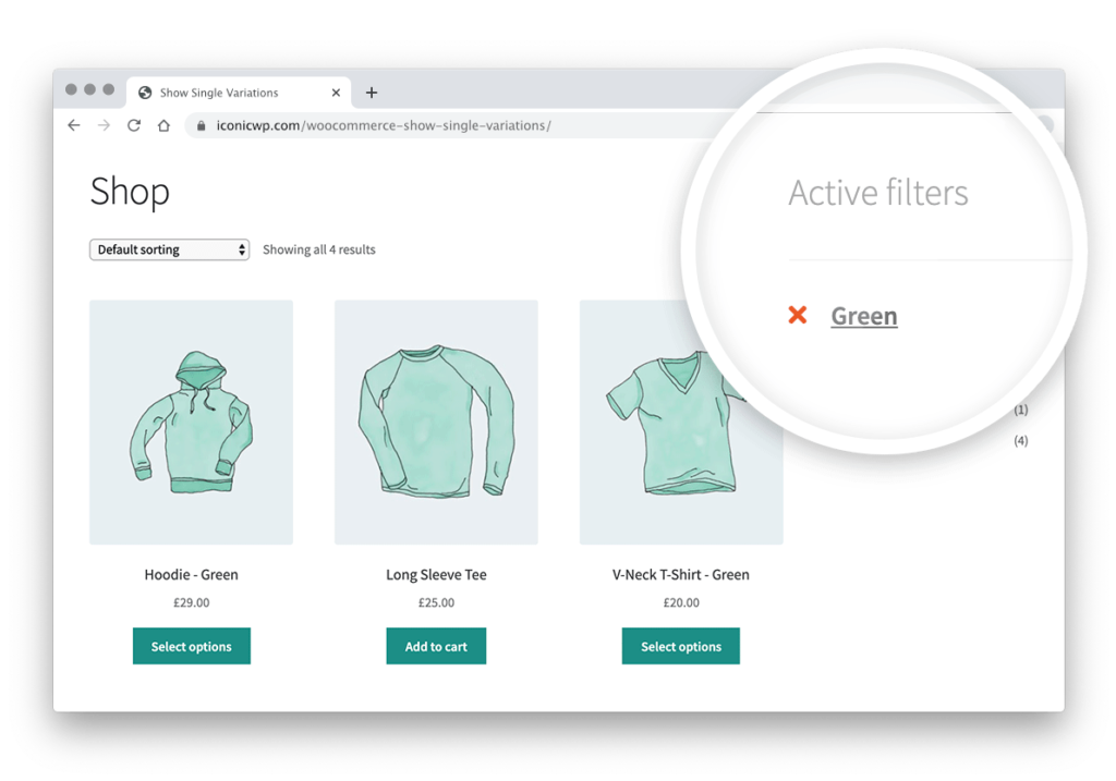 woocommerce filter by attribute
