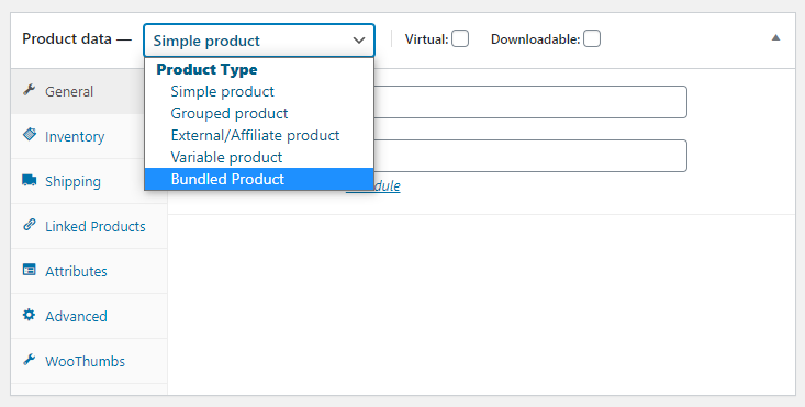 select bundled product