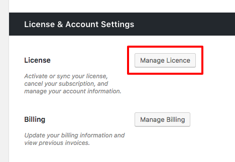 manage license