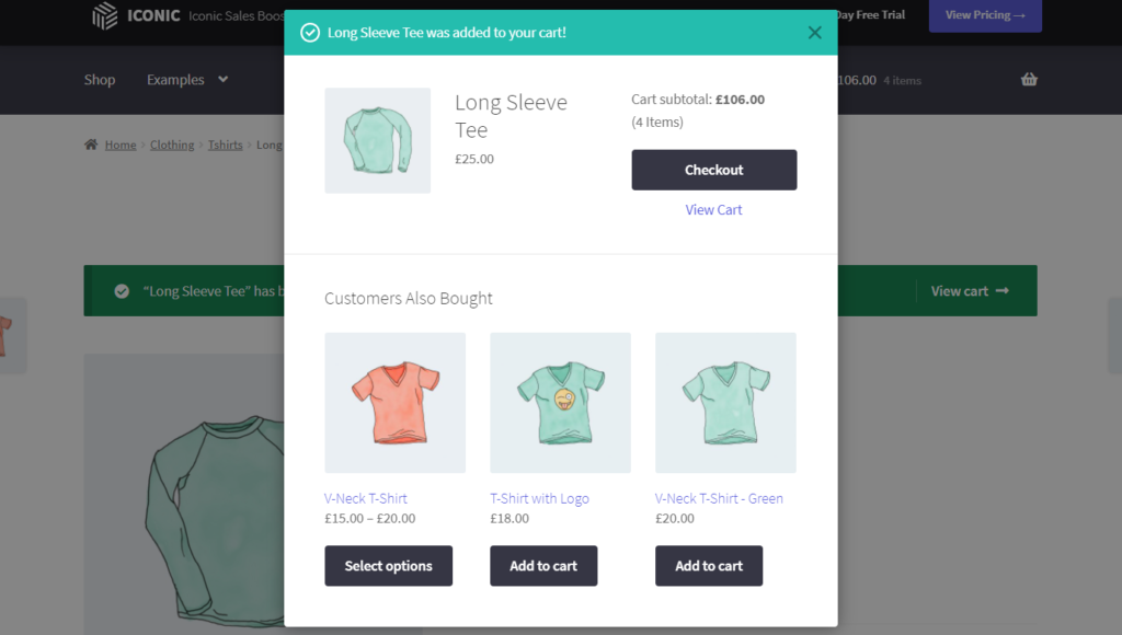 related products pop up woocommerce