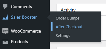 order bump after checkout