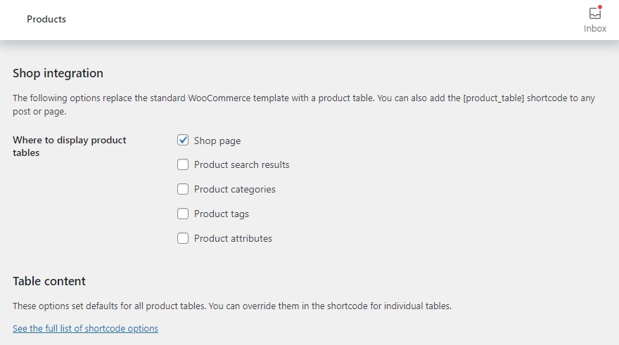 display woocommerce product list view