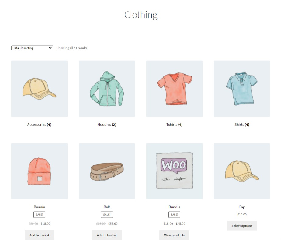 woocommerce category page