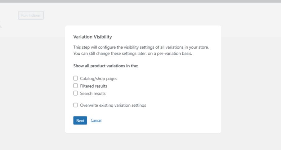 variation visibility